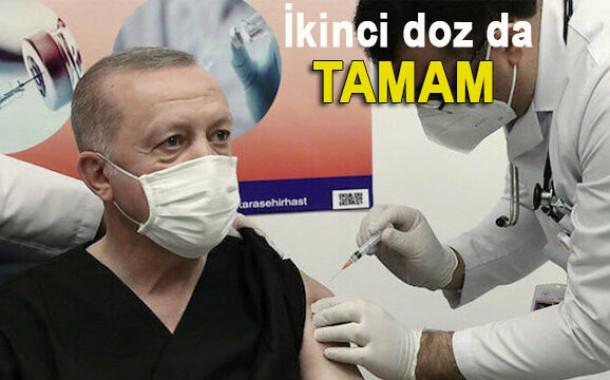 Cumhurbaşkanı Erdoğan Kovid aşısının ikinci dozunu yaptırdı