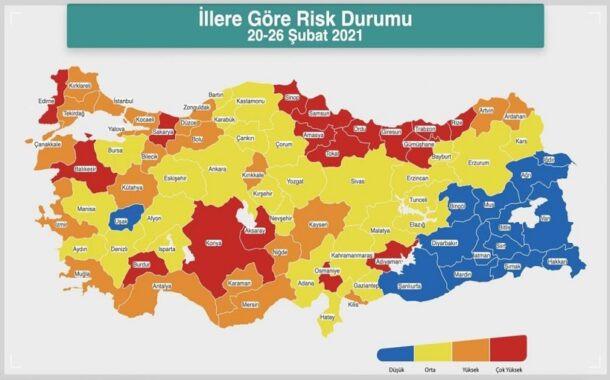 Koronavirüs risk haritasında son durum nedir?
