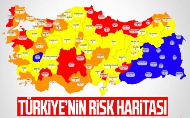 İşte 81 ilin koronavirüs risk haritası!