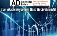 """Yeni ve farklı bir akademik index: """"AD Scientific Index"""""""