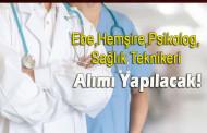 Sağlık Personeli Alımı İlanı