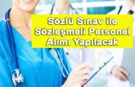 Sağlık Bakanlığı Sözleşmeli Personel Alımı İlanı