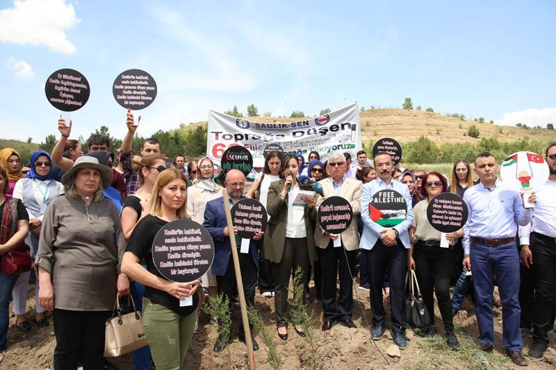 Sağlık-Sen: 62 Filistinli Fidan İçin 62 Fidan