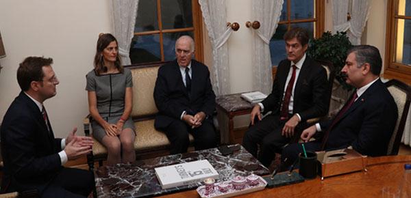 Sağlık Bakanı Fahrettin Koca, Mehmet Öz İle Görüştü