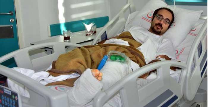 Asansör Düştü Doç.Dr. Murat Biteker'in bacağı kırıldı