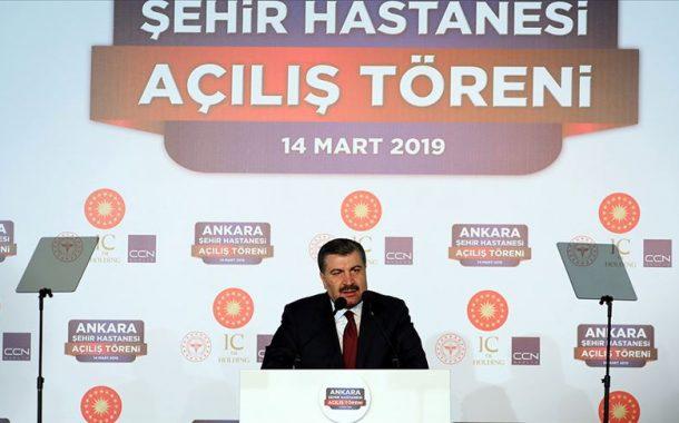 Ankara Şehir Hastanesi Açılışında Bakan Fahrettin Koca'nın Konuşması