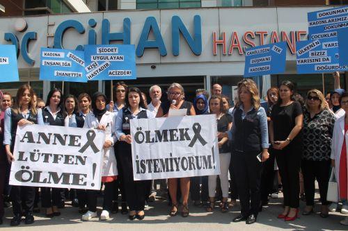 Özel Cihan Hastanesinden Kadına Şiddete Tepki