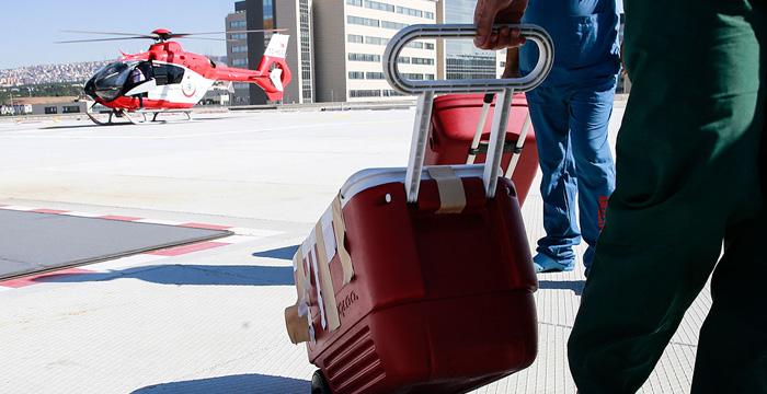 Ankara Şehir Hastanesinden helikopterle ilk organ transferi