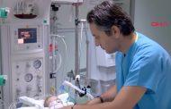 12 Günlük Erkek Bebeğe Sami Ulus Hastanesi'nde Yapay Damar