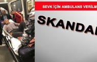 Skandal! Kamyonet Kasasında Hasta Naklettiler