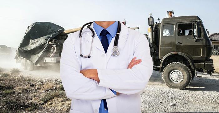 Sağlık personeli sınır hattında