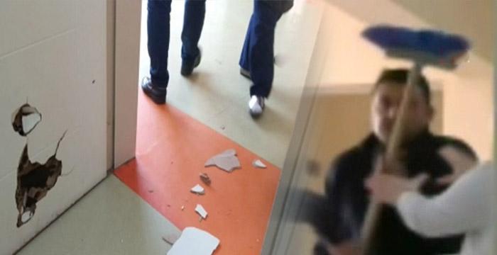 Doktorun odasını fırçayla bastı