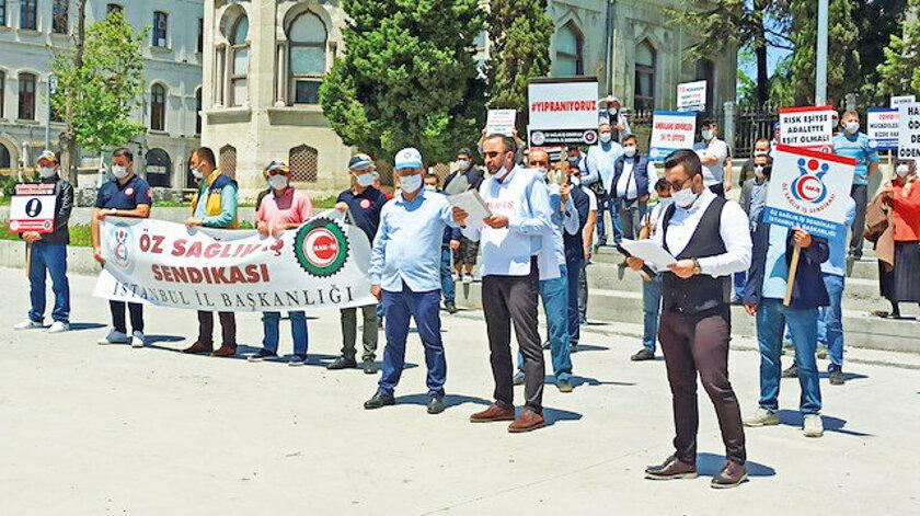 Sağlık işçileri hakkını alamadı, sahipsiz kaldı