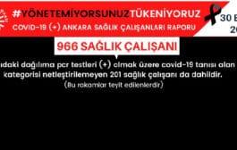 Ankara'da Covid-19 olan sağlık çalışanlarının sayısı açıklandı