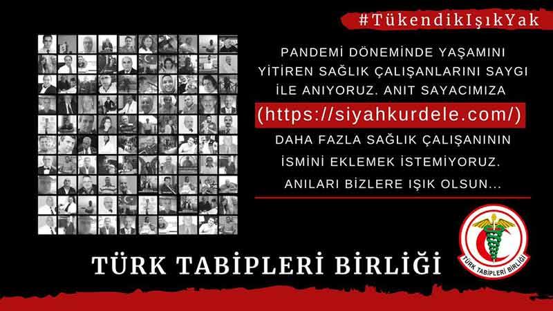 Türk Tabipleri Birliği Sosyal Medyada Eylem Yapacaklarını Duyurdu
