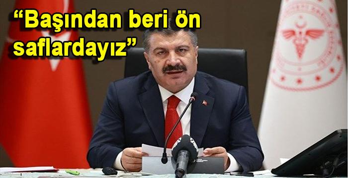 Sağlık Bakanı Fahrettin Koca sağlık çalışanlarına destek istedi
