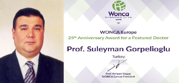 Avrupa'nın 'En Donanımlı Aile Hekimi' ödülünü Dışkapı Hastanesinden Prof.Dr. Süleyman Görpelioğlu aldı