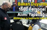 112 Çağrı Merkezlerine 1500 personel alımı yapılacak!