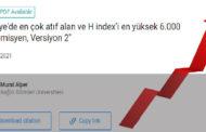 Türkiye'de en çok atıf alan akademisyenlerin listesi (Versiyon 2)