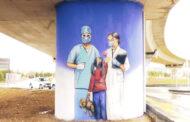 Ankaralı Sağlık Çalışanlarına Grafiti Morali!