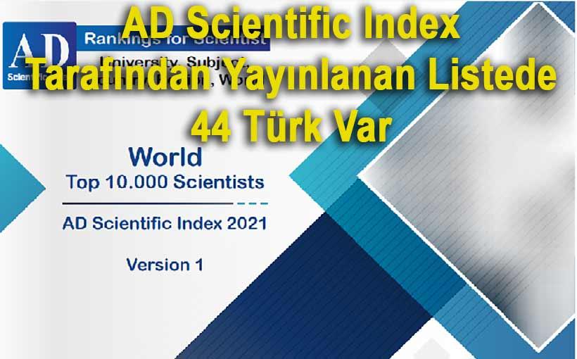 Dünyanın en iyi 10 bin bilim insanı listesi yayınlandı